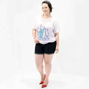 Camiseta Let´s Go Party Plus Size