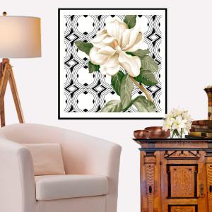 Quadro Decorativo Gardênia Branco