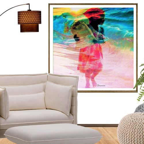Quadro Decorativo A Menina e o Mar