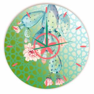 Relógio Caktus Azul Redondo