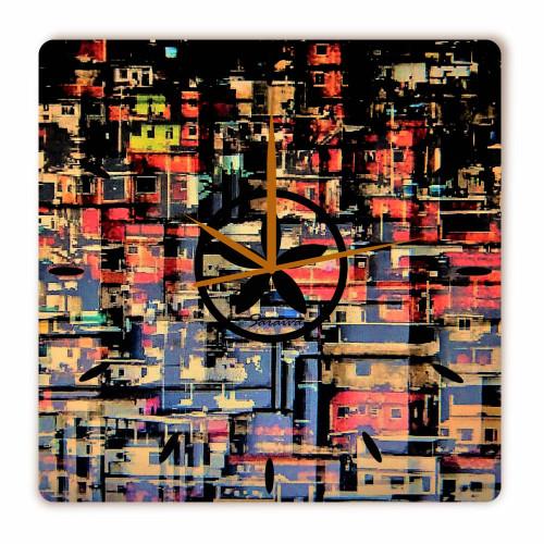 Relógio Colmeia Quadrado