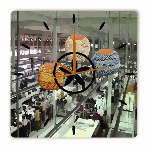 Relógio Fábrica Quadrado