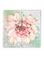 Relógio Flor Vitória Quadrado