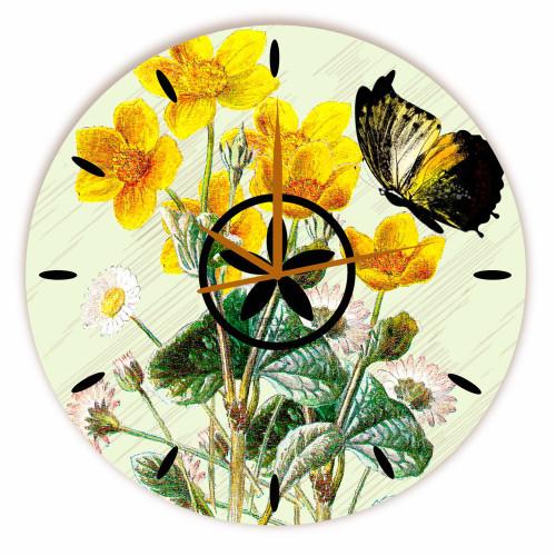 Relógio Frésia Amarelo Redondo
