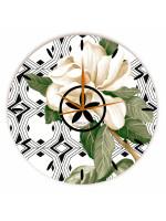 Relógio Gardênia Branco Redondo