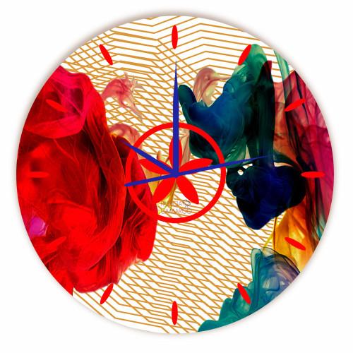 Relógio Teia Colorida Redondo
