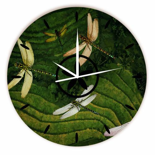 Relógio Vôo Libélulas Redondo