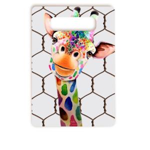 Tábua De Corte Girafa Divertida Pequena