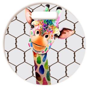 Tábua De Corte Girafa Divertida Redonda