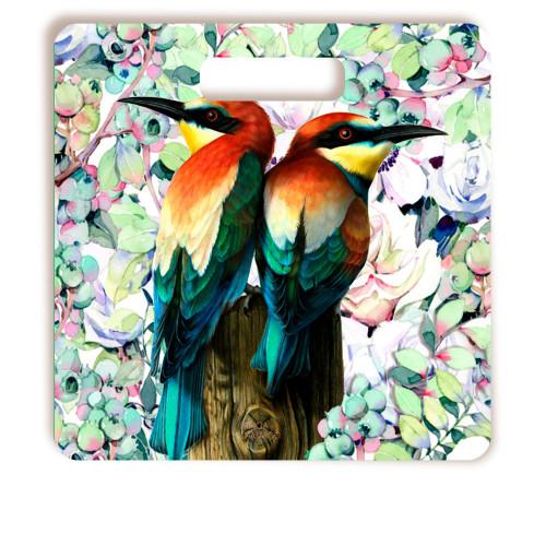 Tábua De Corte Pássaros Quadrada