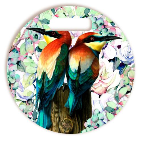 Tábua De Corte Pássaros Redonda