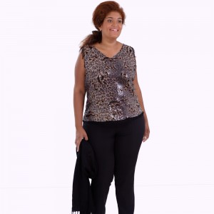 Regata Paetê Ornellas Plus Size