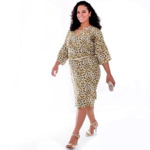 Vestido Bicho Grazia Plus Size