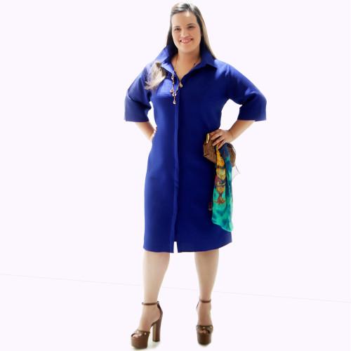 Vestido Chemisier Piquet Royal Plus Size