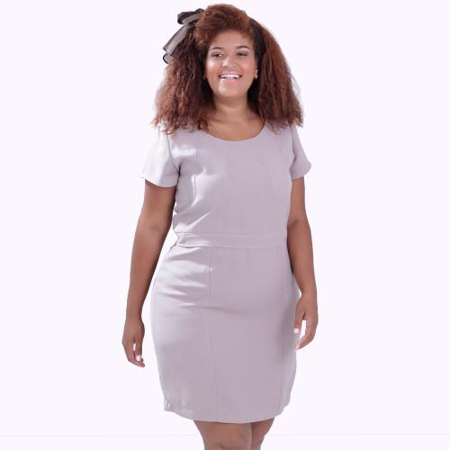 Vestido Crepe Gelo Plus Size