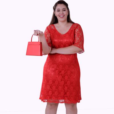 Vestido De Renda L'Amour Plus Size