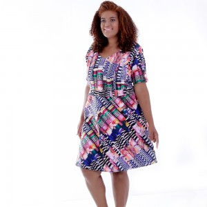 Vestido Dina Estampado Plus Size