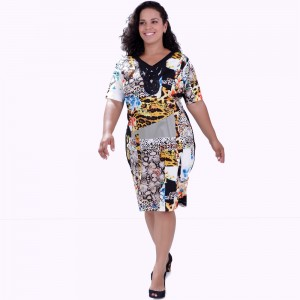 Vestido Frances Estampado Plus Size