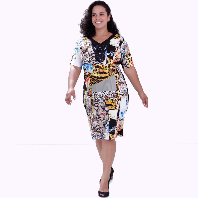Vestido Frances Estampado Plus Size