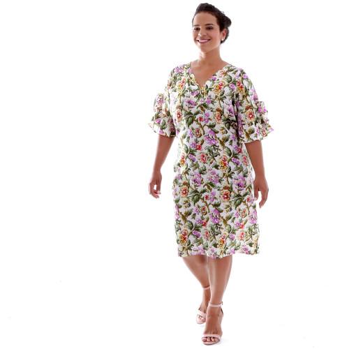 Vestido Gaia Estampado Plus Size