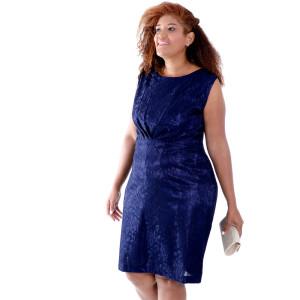 Vestido Giulia Renda Marino Plus Size