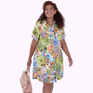 Vestido Huston Estampado Plus Size