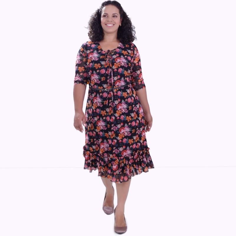 Vestido Liza Tuly Plus Size