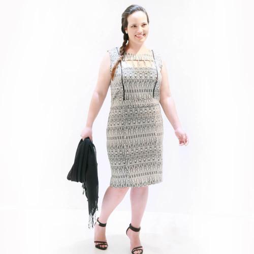 Vestido Malha Jacquard Plus Size