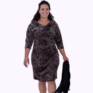 Vestido Plush Bicho Plus Size