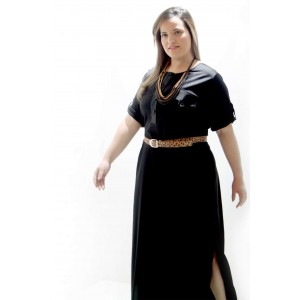 Vestido Pólo Longo Plus Size