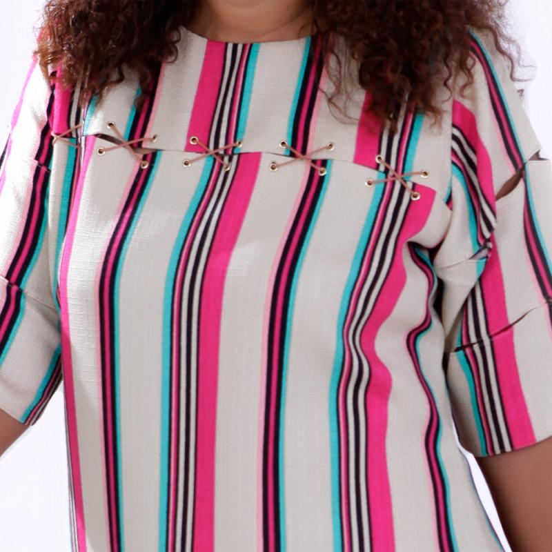 Vestido Rústico Gigi Plus Size