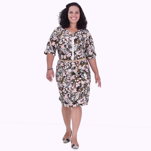 Vestido Sissy Estampado Plus Size