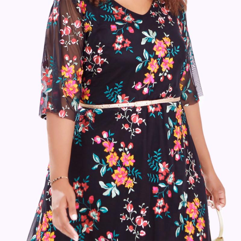 Vestido Tuly Fadas Plus Size