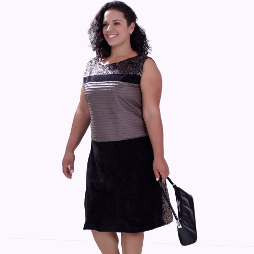 Vestido Three Colors Plus Size